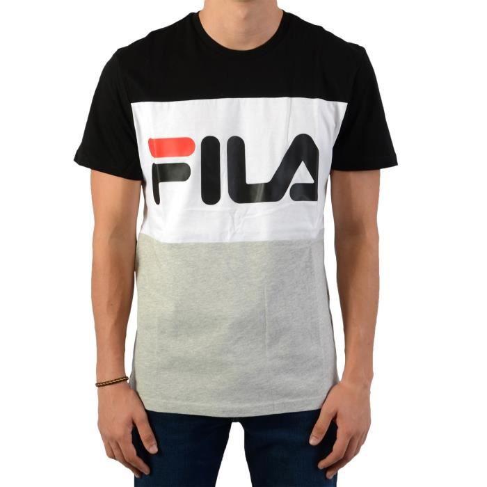 FILA T-Shirt Noir/Blanc/Gris Homme