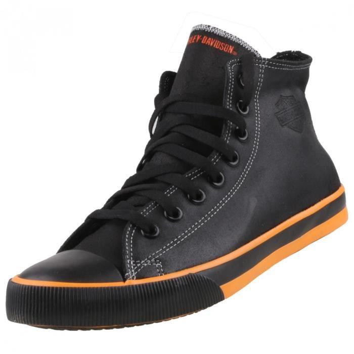 High Top Sneaker Black Harley Davidson hommes noir