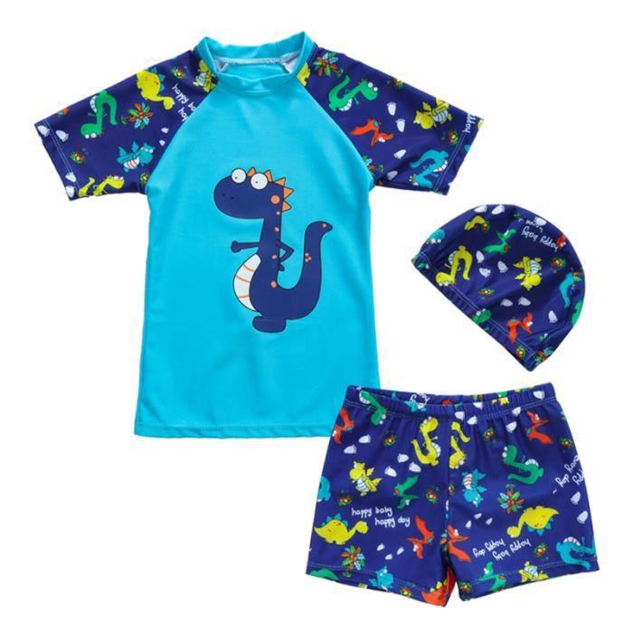 Maillot de bain deux pièces pour garçon de dinosaure pour enfant avec MAILLOT DE BAIN DE NATATION - MAILLOT DE BAIN SURFWEAR