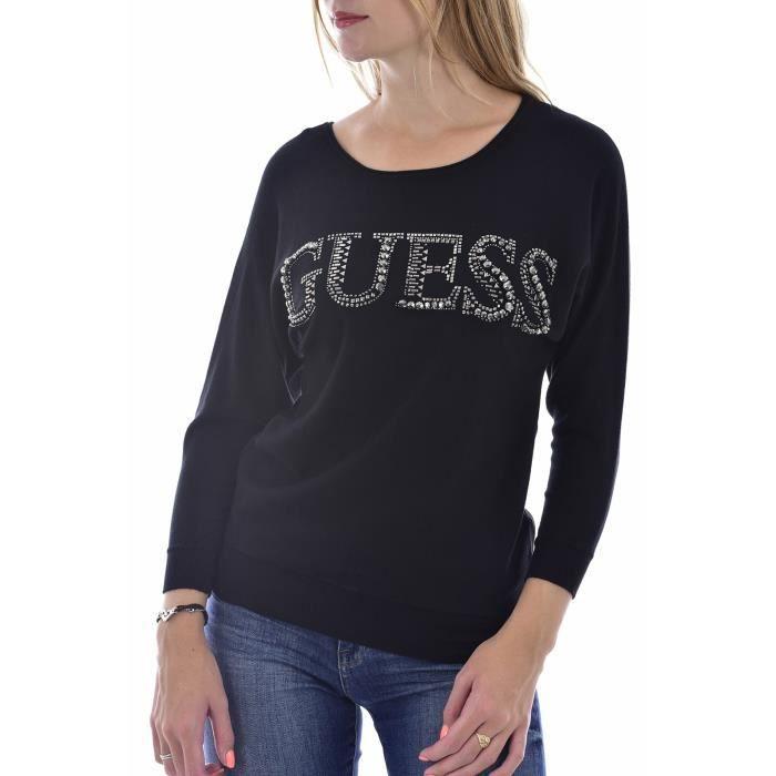Pull à gros logo strassé - Guess jeans W0BR0MZ2NQ0