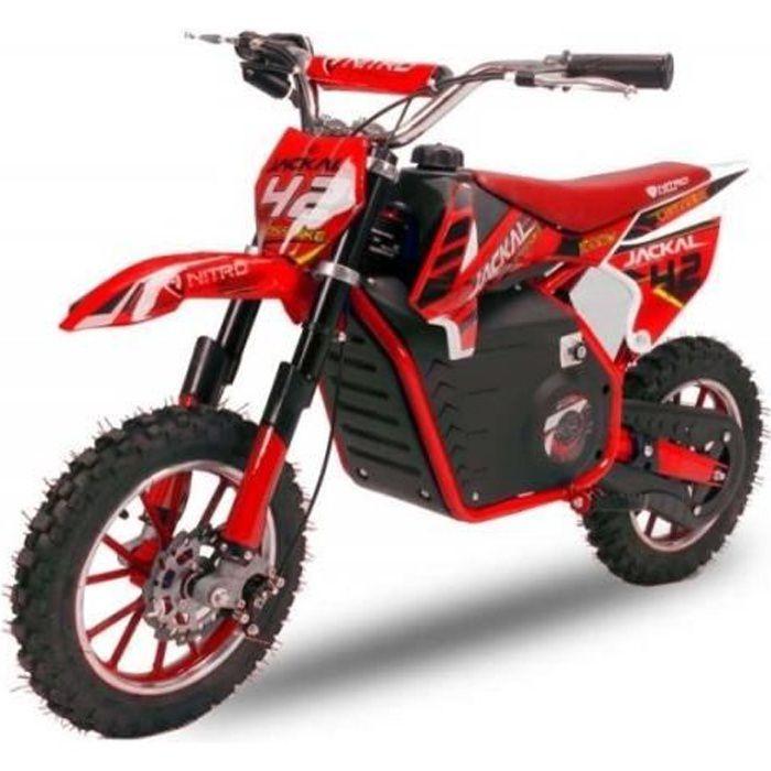 Mini Moto électrique 1000W JACKAL - ROUGE Dirt bike Pit Mini Moto
