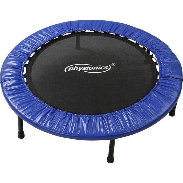 Physionics® Mini Trampoline de Fitness - Diamètre Ø 91cm, Pieds Antidérapants, Usage Intérieur/Extérieur - Trampoline de Gymnastique
