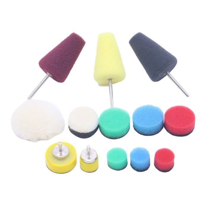 Paquet de 13 Tampon de polissage Portable 0,5-1 pouce de éponge souple pour voiture automobile LUSTREUSE - POLISHEUSE