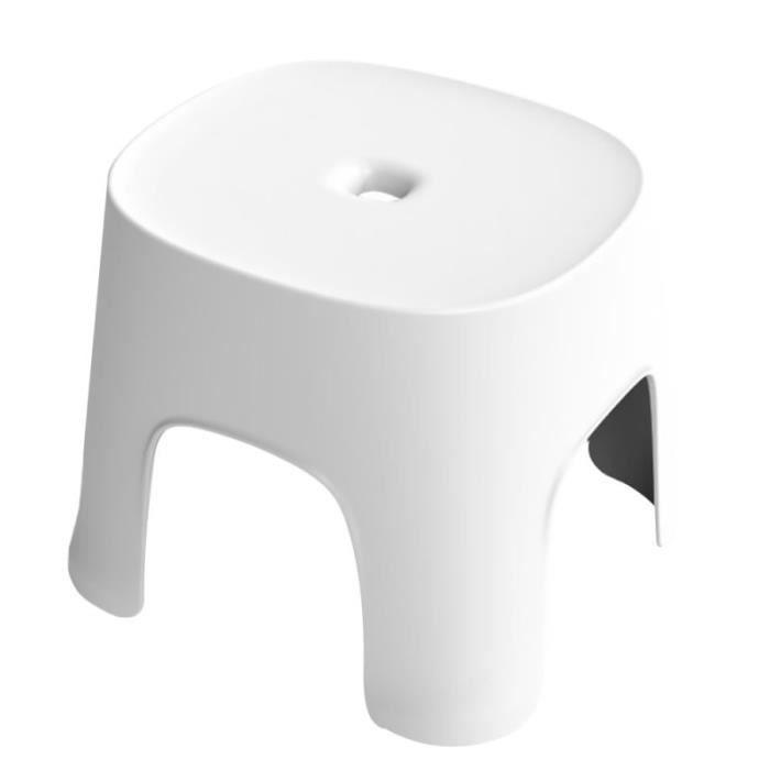 1 PC multi-usage tabouret en anti-dérapant bas chaussures portant salle de bain petit pour la maison (blanc) TABOURET