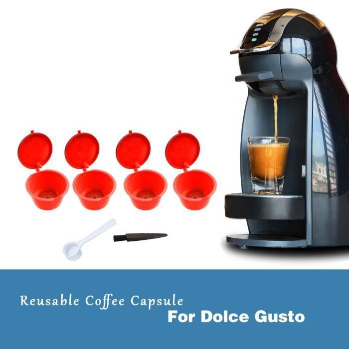 4 pièces rechargeables Dolce Gusto café Capsule Nescafe Dolce Gusto réutilisable Capsule Dolce Gusto Capsules avec QK60940372