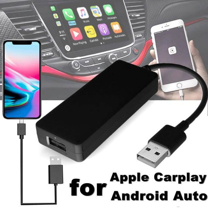 Adaptateur de navigation automobile pour lecteur de navigation Usb pour Ios Apple Carplay Android Auto
