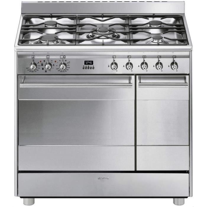 Cuisinière gaz SMEG SB 92 MX 8