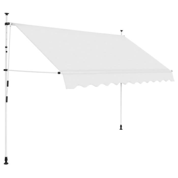 Auvent manuel rétractable 300 cm Crème - Pelouses et jardins - Vie en extérieur - Stores extérieurs - Crème - Crème