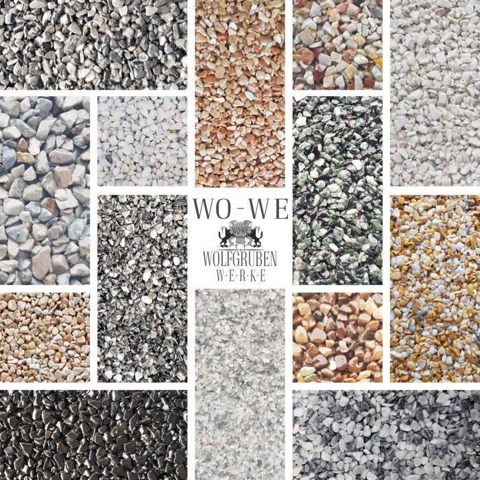 Tapis de pierre - Revêtement de sol pour Terrasse - Décoration de jardin - 4-8mm - Grigio Cenere - W730