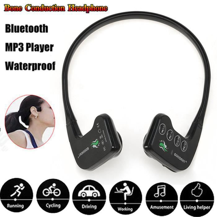 Professionnel Casque De Natation 905mb à Conduction Osseuse Plus Mp3