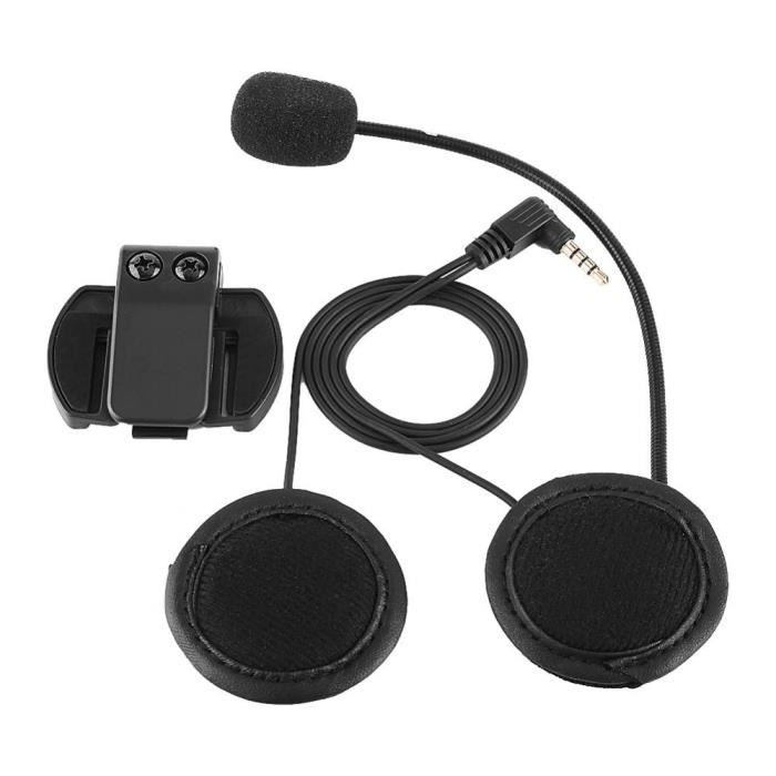 Accessoire de Casque V6 pour Casque de Moto intercom-Noir
