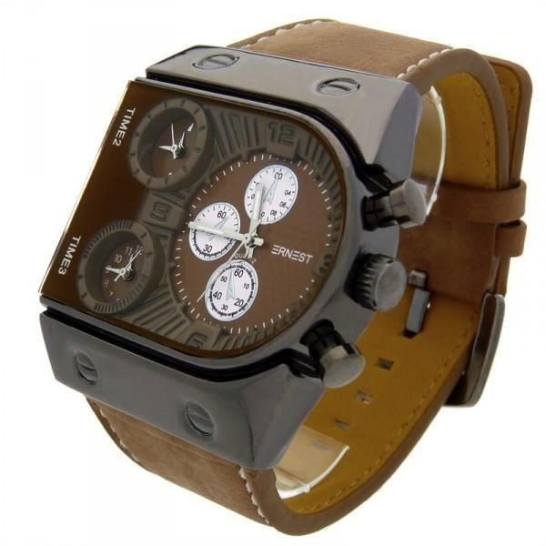 montre avec bracelet cuir