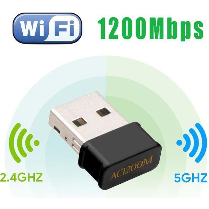 Maxesla R/ép/éteur Wi-Fi port Ethernet Dual Band sans fil 1200 Mbps Amplificateur signal Wi-Fi 5 GHz//2,4 GHz Portable avec WPS prend en charge le mode AP//Repeater