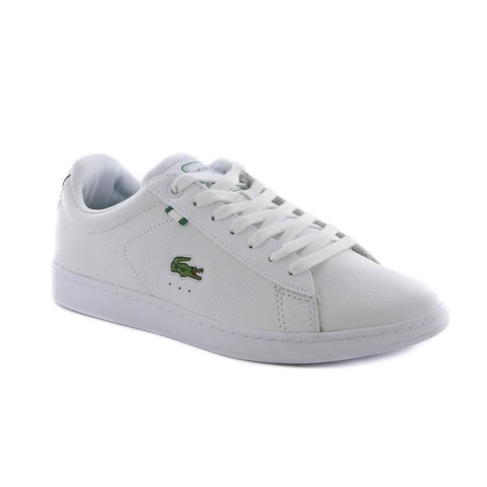 chaussure lacoste carnaby en cuir blanc achat vente basket cdiscount. Black Bedroom Furniture Sets. Home Design Ideas