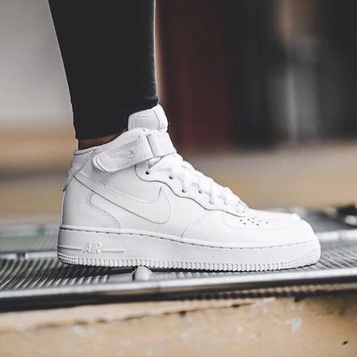 on sale ff3ab 56907 BASKET Baskets Nike Air Force 1 Mid ´07 montantes blanche