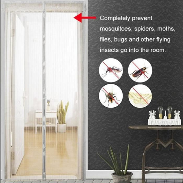 Moustiquaire rideau magic mesh insectes moustiques aimants Moustiquaire Moustiques porte