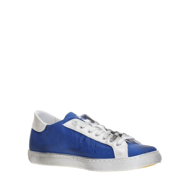 2 Star Sneakers Homme BLUE/WHITE, 40