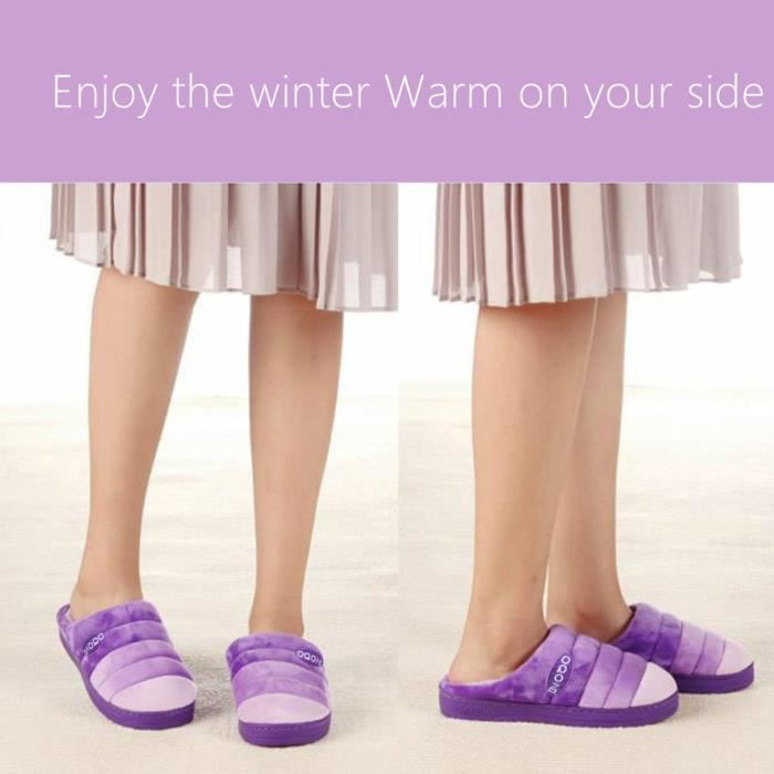 Gradient Color Memory Foam Warm House Slippers For W-indoor Outdoor Sole PZAQ5 Taille-40