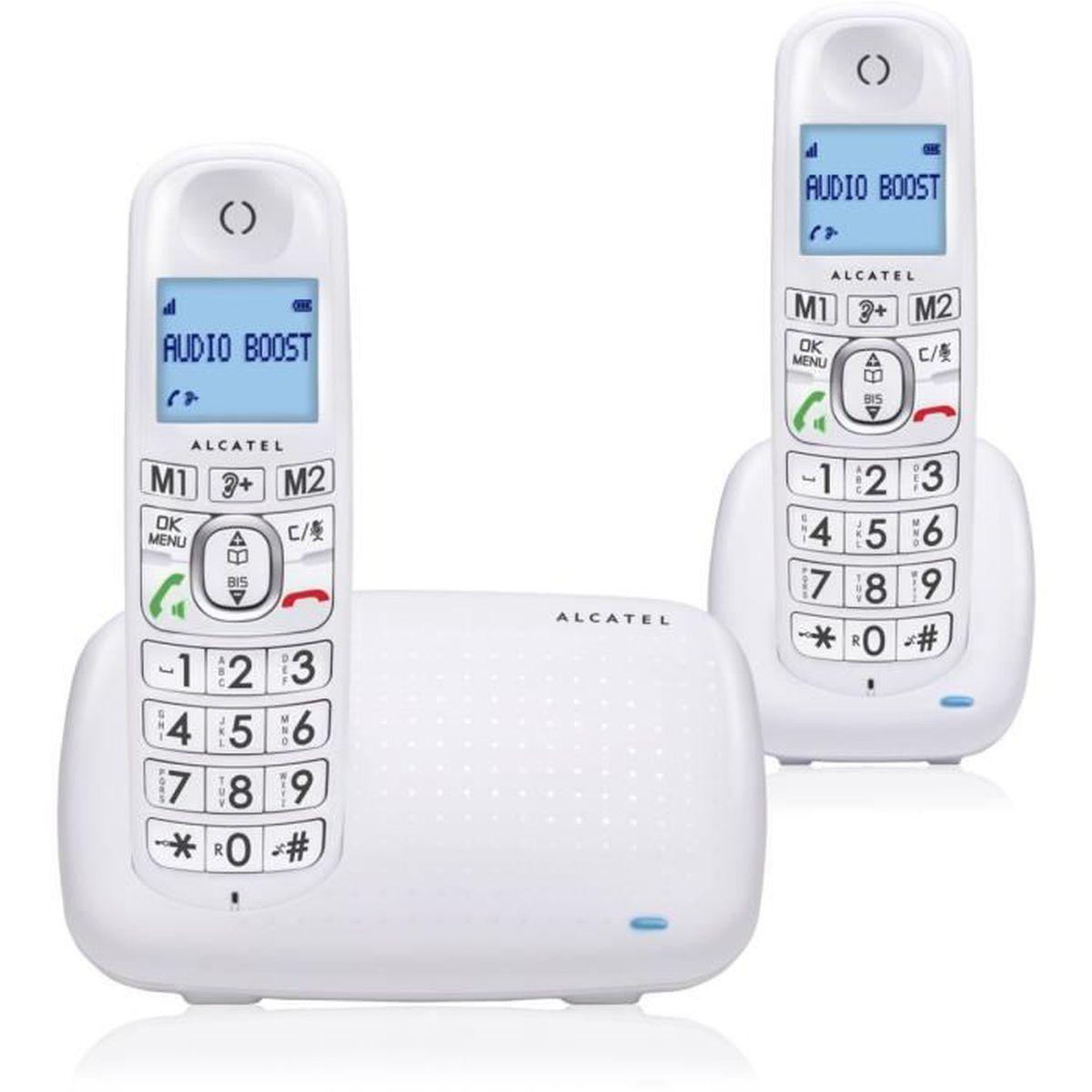 Téléphone fixe Pack ALCATEL F360 DUO BLANC