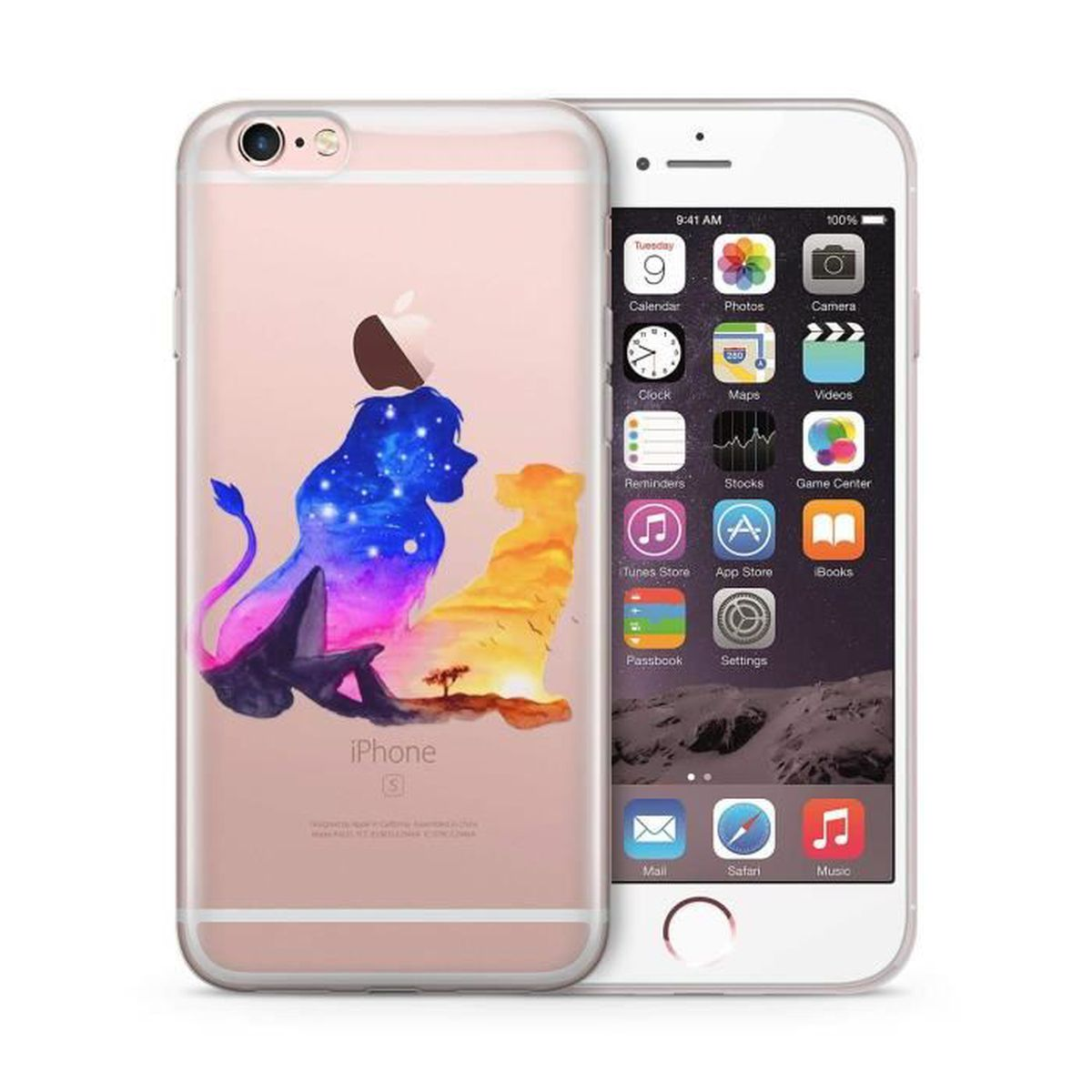 Coque iphone 4s en silicone lion