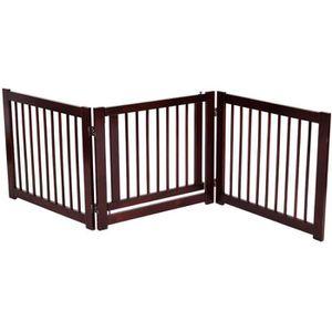 BARRIÈRE SÉCURITÉ CHIEN Barrière de Sécurité Porte pour Animaux Pilable 3
