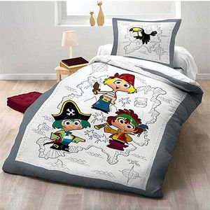 parure de lit pirate achat vente parure de lit pirate pas cher cdiscount. Black Bedroom Furniture Sets. Home Design Ideas