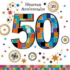 Messages d'anniversaire - 50 ans