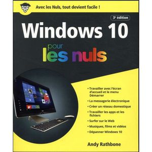 LIVRE TVCOMMUNICATION Livre - Windows 10 pour les nuls