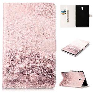 Rose Dor/é Etui Tablette PU+TPU Fille Imprimant Multi-Usage Cuir Silicone Support Antichoc Design Cr/éatif Magn/étique Housse Coque pour Samsung Galaxy Tab A 10.5 Pouces 2018//T590//T595