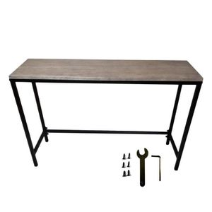 console metallique noire achat vente pas cher. Black Bedroom Furniture Sets. Home Design Ideas