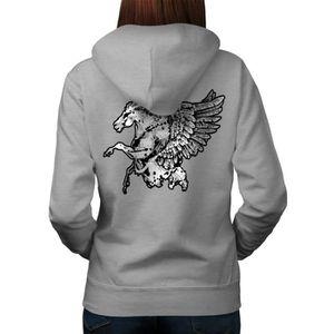 Capuche//Hoody Gris chevaux Animal /& Nature Motif Modèle Chevaux