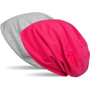 styleBREAKER Bonnet Beanie r/éversible Unicolore Unisexe 04024115 longbeanie Mou l/éger et Doux