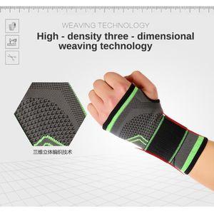 POIGNET ÉPONGE Poignet ajustable de compression de tissage dimens
