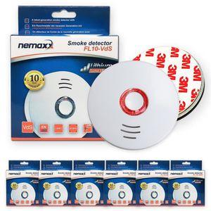 8er set ELRO détecteurs de fumée 10 ans Batterie vds certifié avec support magnétique