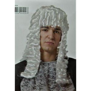 CHAPEAU - PERRUQUE  Juge Blanche anglais tribunal déguisement cheveux
