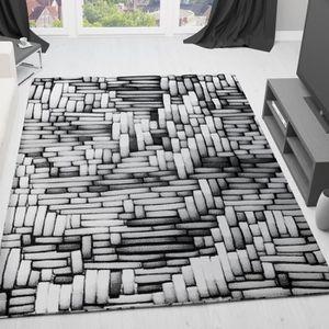TAPIS Tapis designer 3D gris [60x100 cm]