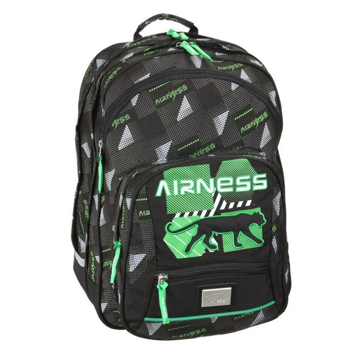 airness sac dos borne glow gar on noir et vert achat. Black Bedroom Furniture Sets. Home Design Ideas