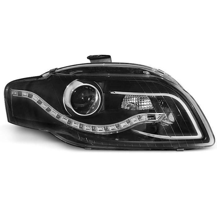 Paire de feux phares Audi A4 B7 04-08 Daylight led noir (U52)