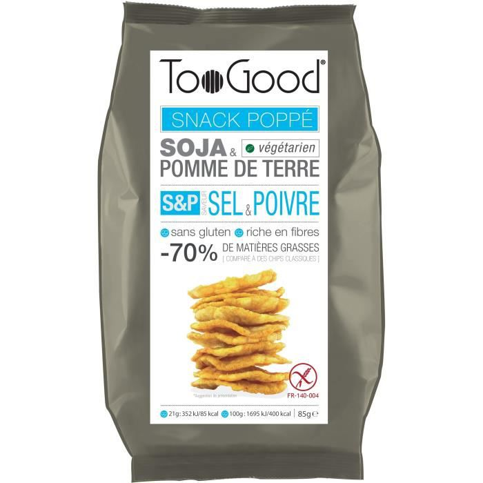 Snack poppé saveur sel et poivre 85g Toogood