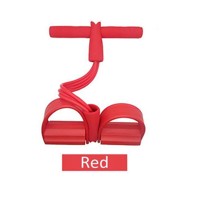 rouge Bandes de résistance élastiques, 4 cordes de traction résistantes, équipement de gymnastique en salle
