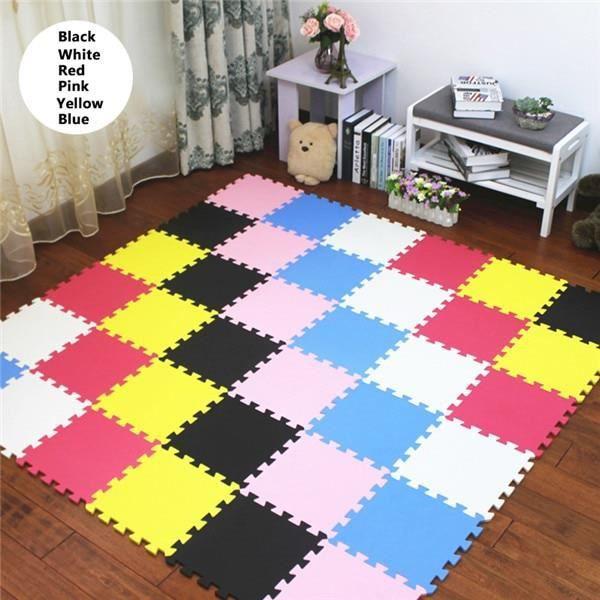 Tapis d'éveil,JCC multicolore bébé EVA mousse Puzzle tapis de jeu-enfants tapis tapis de verrouillage - Type D-9pcs 30x30cm