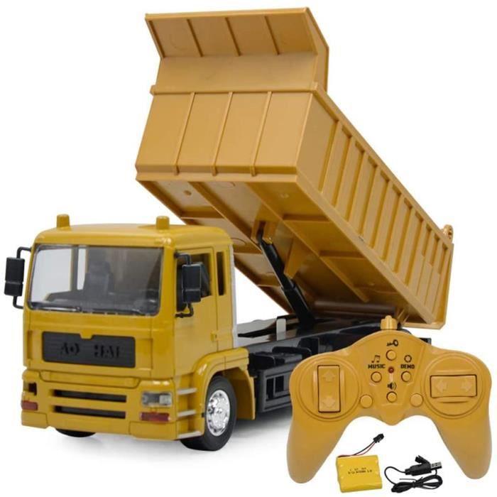 VEHICULE MINIATURE ASSEMBLE ENGIN TERRESTRE MINIATURE ASSEMBLE Jouet de camion à benne basculante RC enti&egraverement204