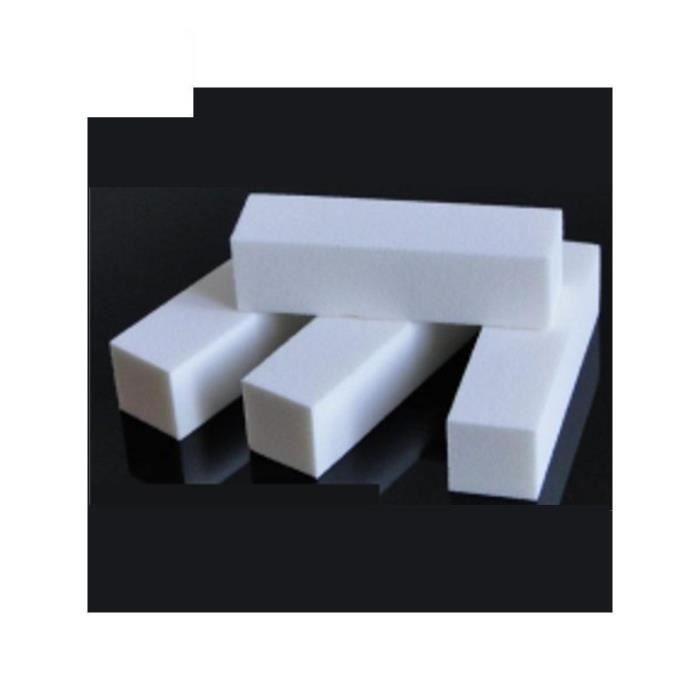 1x bloc polissoir a ongles grains de 100 4 faces lime a ongle manucure pedicure nail art