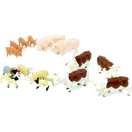 Assortiment de 17 figurines animaux en plastique