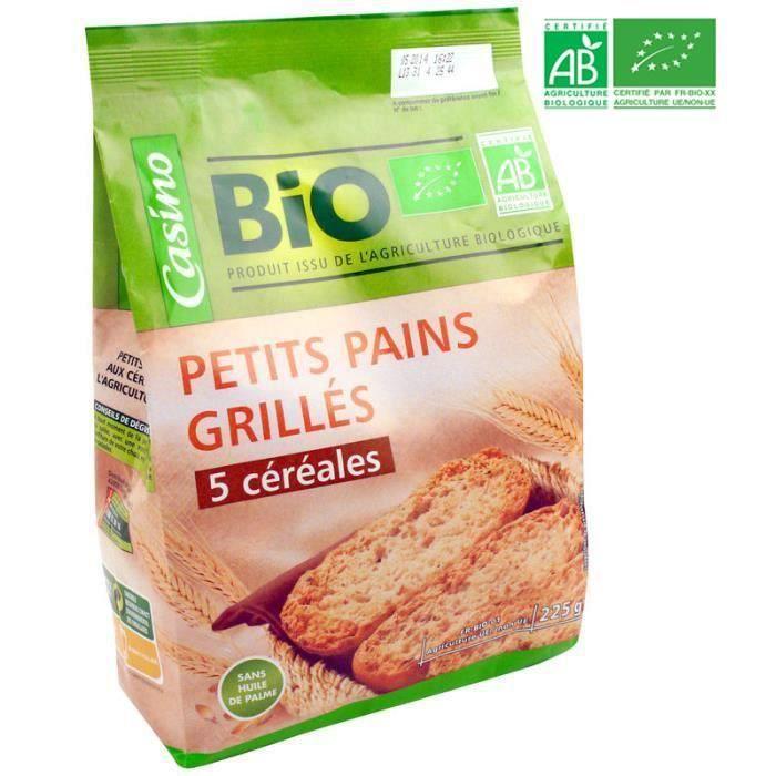 CASINO petit pains grillés 5 céréales Bio - 225g