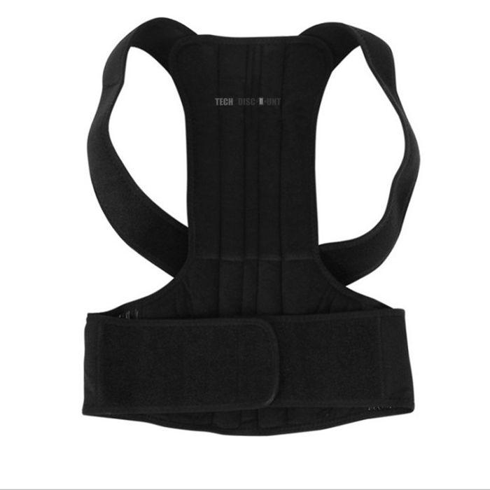 C® Correcteur de Posture,Hommes Femmes Réglable Correcteur De Posture Magnétique Corset Masculin(M 26-34'')