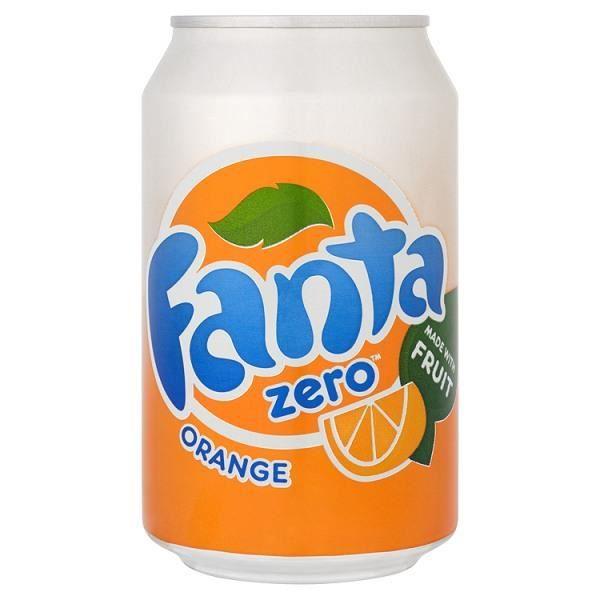 Fanta Orange Zero 330ml (Pack de 24 x 330ml)