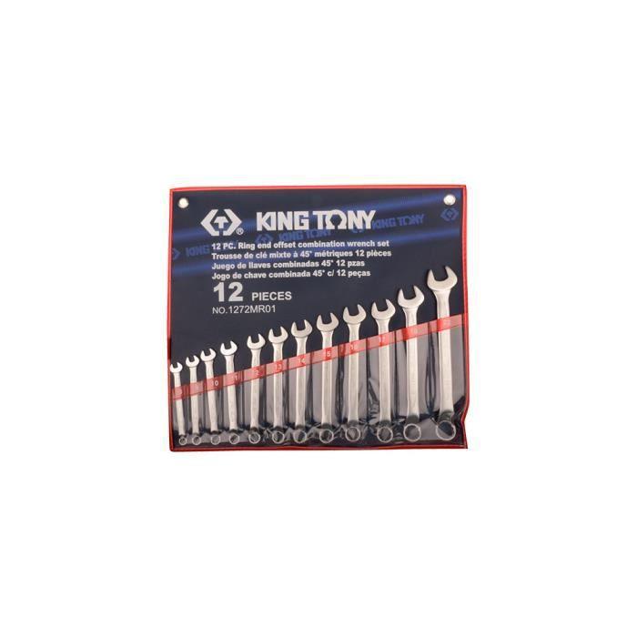 Trousse de 12 clés mixtes à 45° métriques - 8 à 22 mm