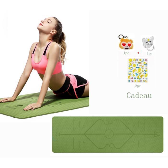 Tapis de Yoga Tapis de Sol Tapis de Gym 183 x 61 x 0,6 cm Tapis d'Exercice de sport Tapis de Gymnastique Pliable