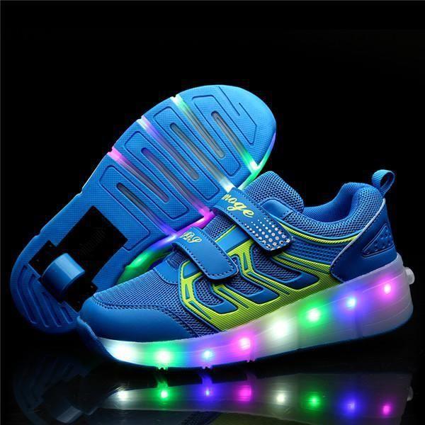 Chaussures d'hiver pour enfants,Baskets brillantes pour enfants, avec roues légères, chaussures de tennis éclairées, pour enfants,